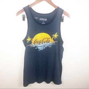 COKE Graphic CocaCola Summer Palm Tree Muscle Tank